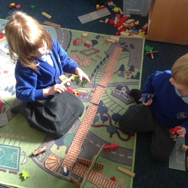 """""""We made a railway track and went on a journey."""""""