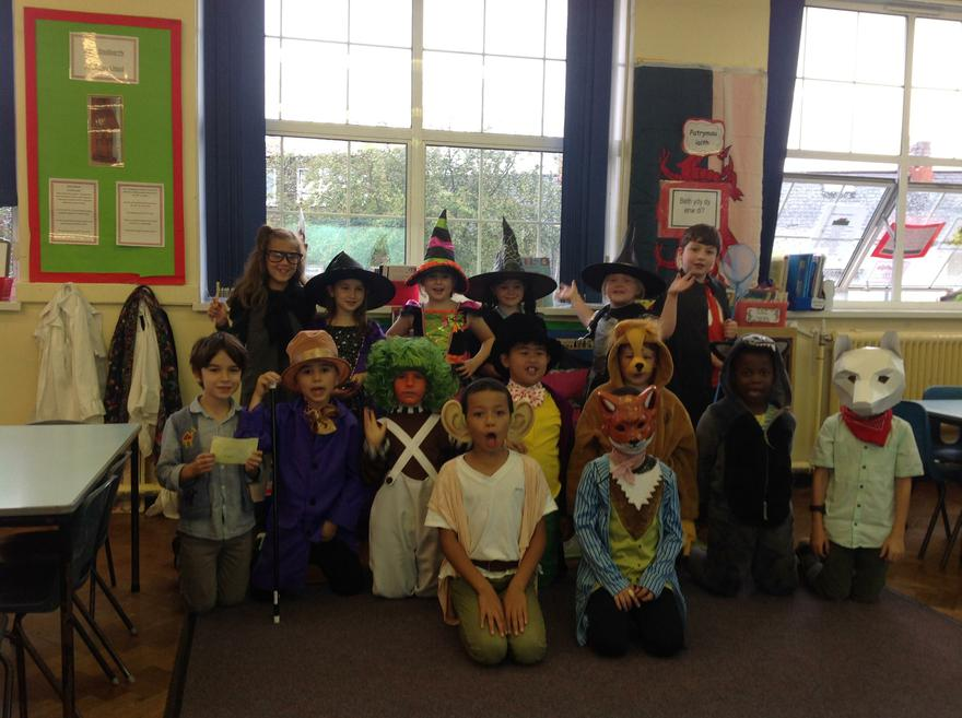 All dressed up for Roald Dahl Day!!