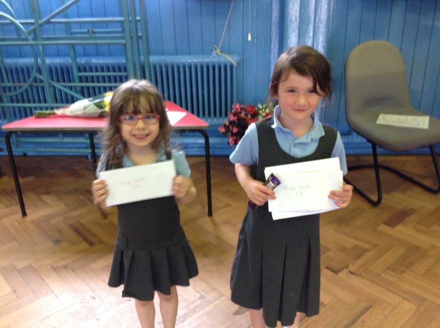 Tocyn Iaith raffle tickets award winners.