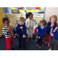 The holy spirit came as wind - we made wind sounds