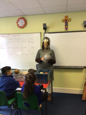 Miss Westbrook showed us replica armour