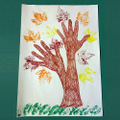 Have a go at leaf or hand printing