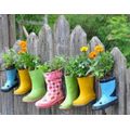 Plant seeds in old wellies