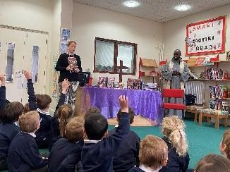 Father Pio came to bless the bibles for our children.