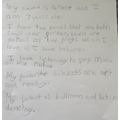 Amazing writing Grace!