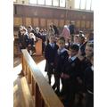 Year 3 at their first Parish mass