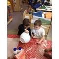 Making our salt dough ornaments