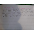 Super writing from Sophie