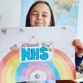 Danielle's excellent art for the NHS!