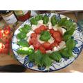 finished basil leaf salad - yum