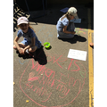 Drawing hearts outside