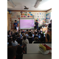 Gabi & Eli gave an assembly to Y1 about generosity