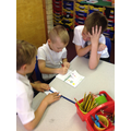 Y5 sharing creation stories with Y2