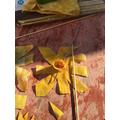 making the daffodil trumpet