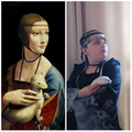 Lady with an Ermine - Da Vinci  + A with  Pompom