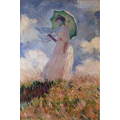 Woman with a parasol - Monet