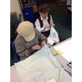 Y6 Making their final product: aprons