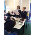We performed our descriptive poems about Beowulf
