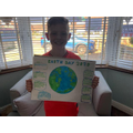 Josh's excellent poster for Earth day - great job!