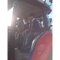Sitting in a tractor