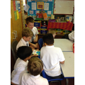Y5 sharing creations stories with Y2