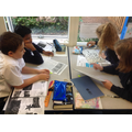 Collaborative work researching a WW1 Battle
