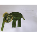 And Isaac's leaf elephant - brilliant!