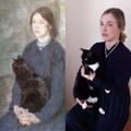 Young Woman Holding Black Cat- Gwen John - Mrs B