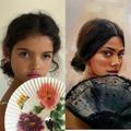 Portrait of a Woman - A Lubchik -portrait of A