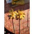 two finished daffodils