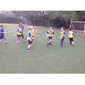 Y3 have been developing their tag rugby skills