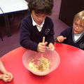 The children enjoyed making flapjacks