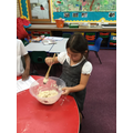 making salt dough for modelling