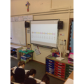 Decimal fractions on a number line.