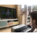 Ada enjoying home learning with BBC Bitesize