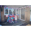 Ruby celebrating VE Day with her family