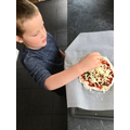 Looks yummy George, home made Pizza