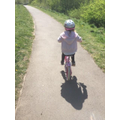 Great cycling Aubree, well done!