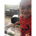 Lucy enjoying her colouring - lovely colours Lucy
