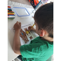 Freddie having a go at his own Story Map
