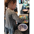 Madison made a very colourful 'silly cake'