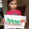 Beautiful painting Holly, a super caterpillar!