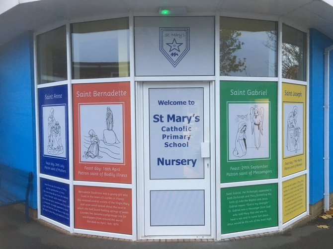 New signs to the Nursery doors (October 2018)