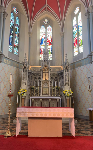 The beautiful altar in St. Mary's Church.