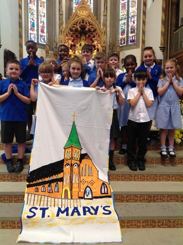 First Holy Communicants at St. Chad's in 2018.