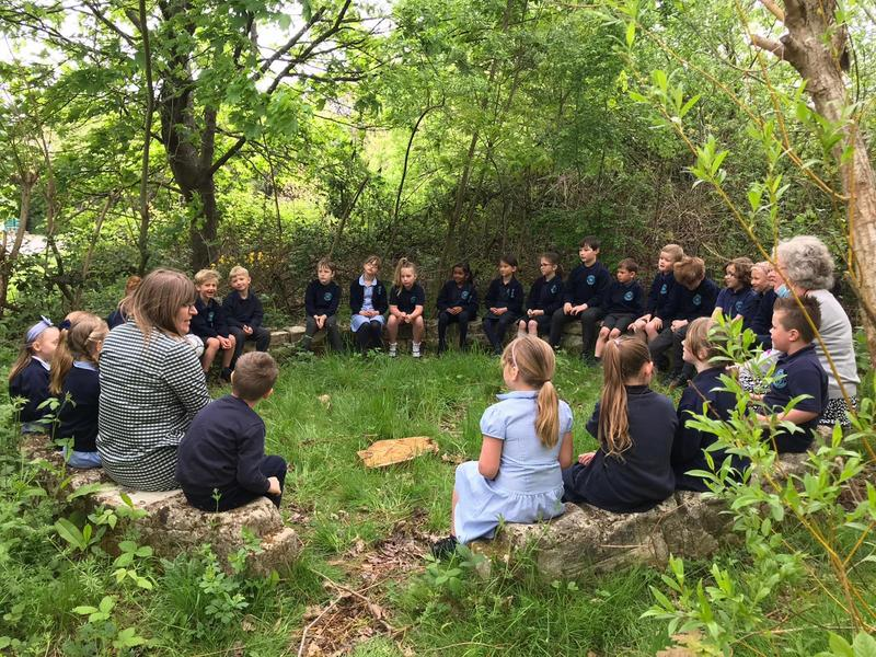 English in the woods!