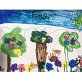 Ruby's forest picture for the RSPB competition