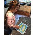 Bethany has made  treasure map- brilliant!