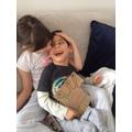 Jemima and her brother Joseph having fun!
