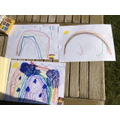 Ruby, Harry and Arthur's beautiful rainbows.